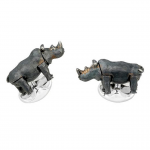 Moving Rhino Cufflinks