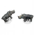 Moving Rhino Cufflinks