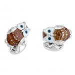 Sterling & Sapphire Owl Cufflinks