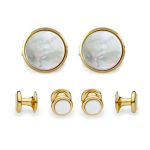 Gold & Mother of Pearl Stud Set
