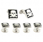 Sterling Skull & Crossbones Stud Set - for a themed prom