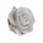 White Rose Lapel Pin