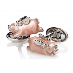 Sterling Pigs Fly Cufflinks by Jan Leslie