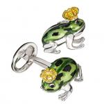 Green Frog Prince Cufflinks