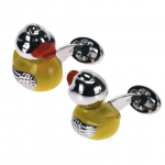 Rubber Ducky Bobble Head Cufflinks by Jan Leslie