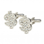 Crystal Dollar Cufflinks