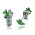 Sterling Mint Julep Cufflinks - get your Kentucky Derby On!