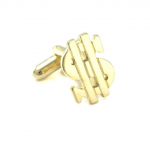 Gold Color Dollar Sign Cufflinks