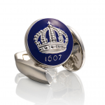Royal Blue Crown Cufflinks by Skultuna
