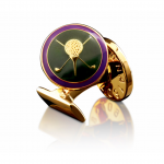 Gold Golfer Cufflinks by Skultuna