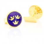 Tre Kronor Gold Cufflinks by Skultuna (Designer Spotlight)