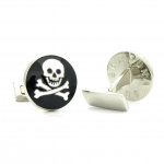 Skull & Bones Cufflinks (Black) by Skultuna