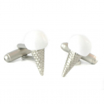 Silver Ice Cream Summer Cufflinks