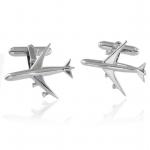 Sterling Silver Jet Plane Cufflinks