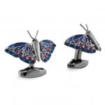 Gun Metal Tateossian Butterfly Cuff Links