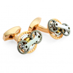 Tateossian Rose Gold Gear Trio Cufflinks