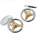 Two-Toned Steering Wheel Cufflinks