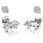 Sterling Bear & Bull Cufflinks by Robin Rotenier