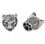 Sterling Tiger Head Cufflinks by Robin Rotenier