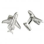 Sterling Jet & Engine Cufflinks by Robin Rotenier