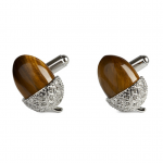 Acorn Tigers Eye Cuff Link by Simon Carter