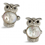 Woody Owl Cufflinks by Simon Carter