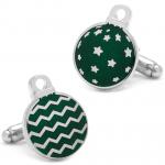 Green Christmas Ornament Cufflinks