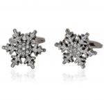 Gunmetal Snowflake Cufflinks