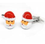 Santa Head Cufflinks for Christmas