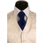 Blue Rose Cravat - New Years Accessory