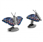 Gun Metal Butterfly Cuff Links by Tateossian