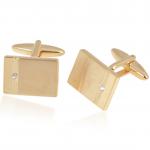 Solitaire Engravable Cufflinks for women or men