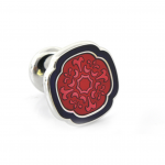 Crimson French Floral Cuff Links - perfect for Valentine's Day
