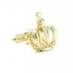 Gold Plated Crown Cufflinks