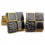 Contrasting Textured Hematite Cufflinks