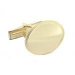 14 Karat Gold Bordered Engraved Cuff Links