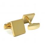 Square Engravable Gold Finish Cufflinks