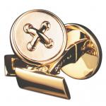 Skultuna Black Tie Collection Gold Button Cufflinks