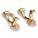 Gold Balloon Rabbit Cufflinks
