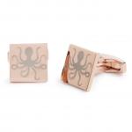 Rose Gold Square Octopus Cufflinks