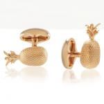 Rose Gold Plated Pineapple Cufflinks