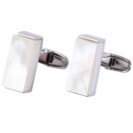 Luxe Mother of Pearl Rectangle Cufflinks