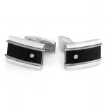 Titanium & Diamond Rectangle Cufflinks