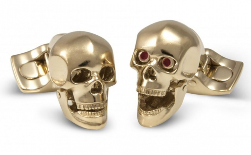 Skull Cufflinks – The Ultimate in Scary Chic