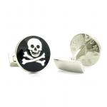 Skull & Bones Cufflinks (Black)