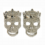 Crystal Crowned Skull Cufflinks