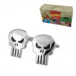 Silver Punisher Skull Cufflinks
