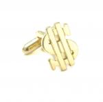 Gold Color Dollar Sign Cufflinks