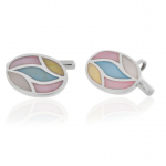 Multi-Colored Pearl Cufflinks