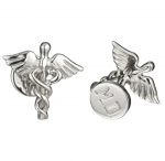 Sterling Caduceus & MD Cufflinks